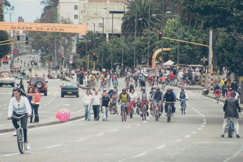 La cyclo route de Bogota, activité insolite en colombie
