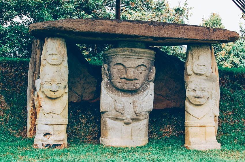 Parque arqueológico San Agustín en Colombia