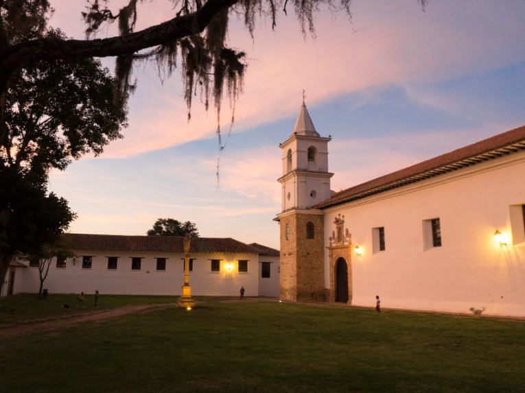 couvent coucher du soleil villa de leyva voyage en Colombie