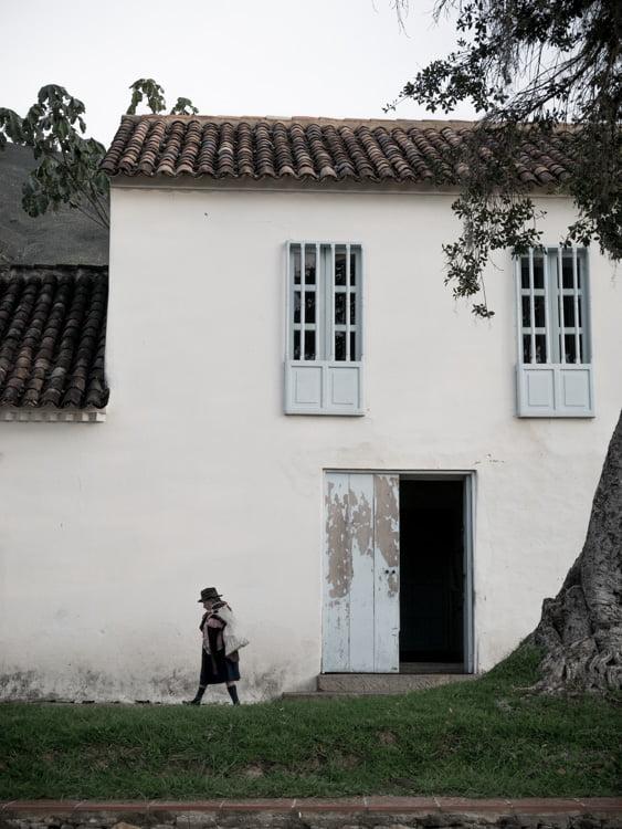 paysanne à villa de leyva voyage en Colombie