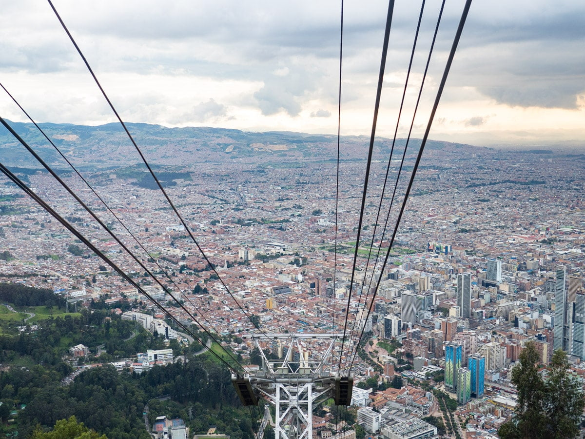 dans le telepherique du monserrate bogota