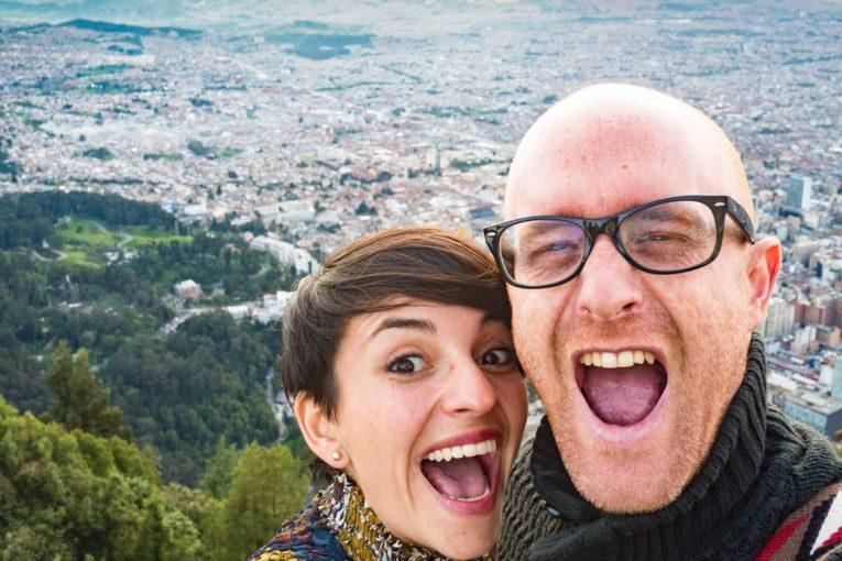 les blogueurs de mon voyage en colombie au sommet du monserrate à bogota