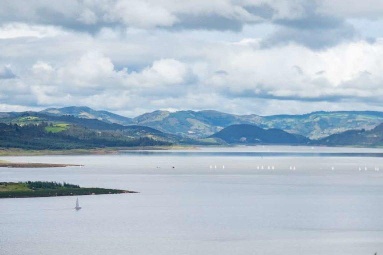 Le barrage du Tomine dans le Village de Guatavita