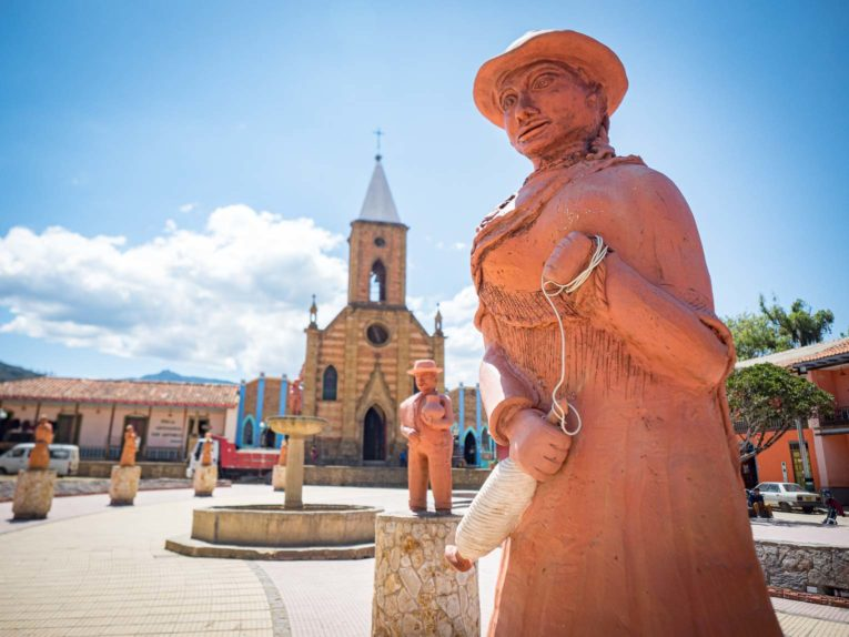 Raquira, village du Boyaca près de Villa de Leyva en Colombie