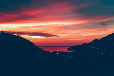 coucher de soleil sur taganga colombie