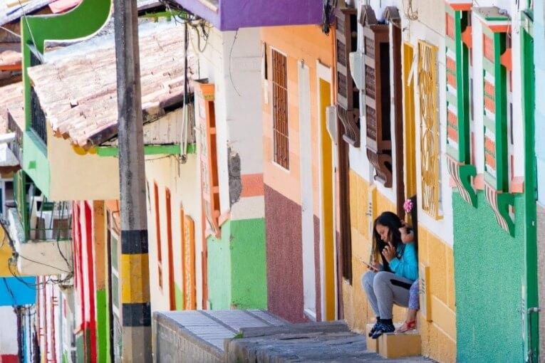 Les couleurs du village patrimoine de Jerico près de Medellin en Colombie