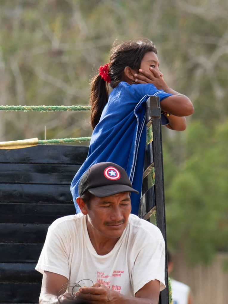 Indigènes Wayuu dans le village de Nazareth dans le désert de la Guajira en Colombie