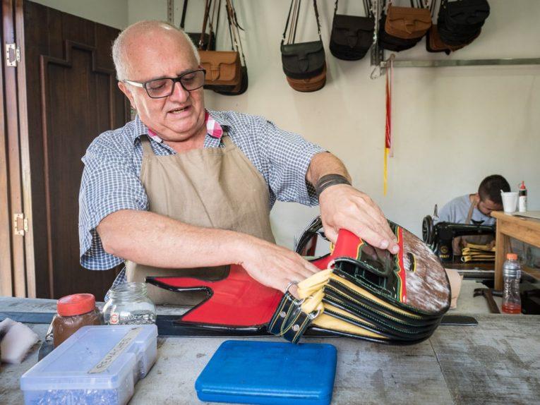 artisanat carriel Rubén Darío Agudelo Bohórquez visiter jerico beau village de colombie