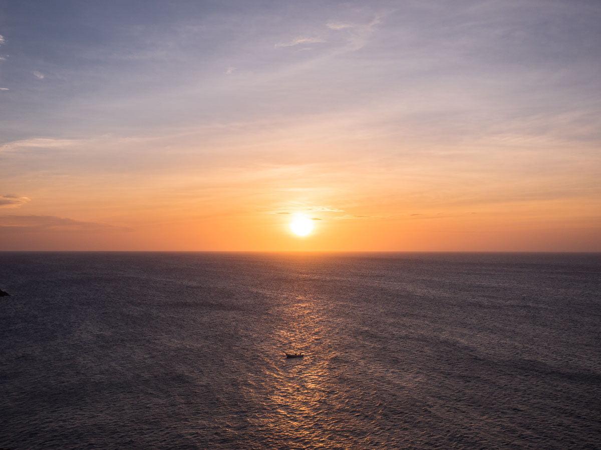 Coucher de soleil au Cabo de la vela dans la Guajira en Colombie