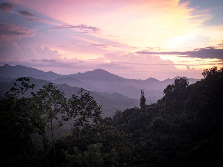 coucher de soleil à Minca dans la Sierra Nevada Colombie