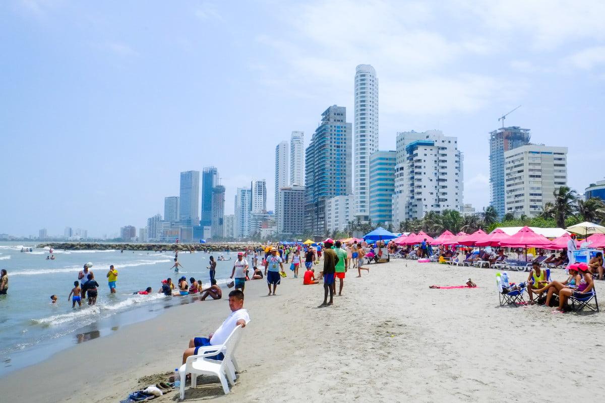 Bocagrande, les plages où se baigner à Carthagène en Colombie
