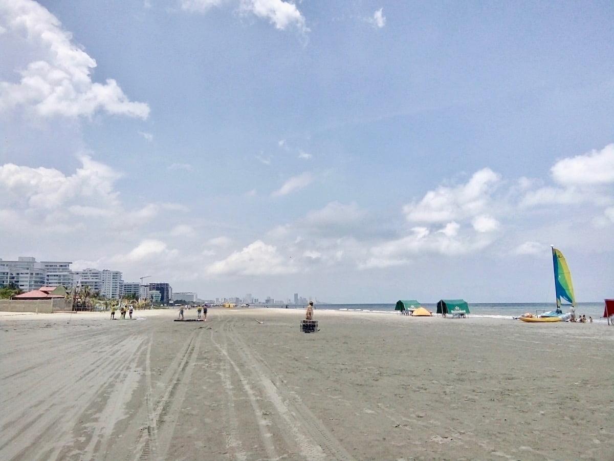 La Boquilla, les plages où se baigner à Carthagène en Colombie