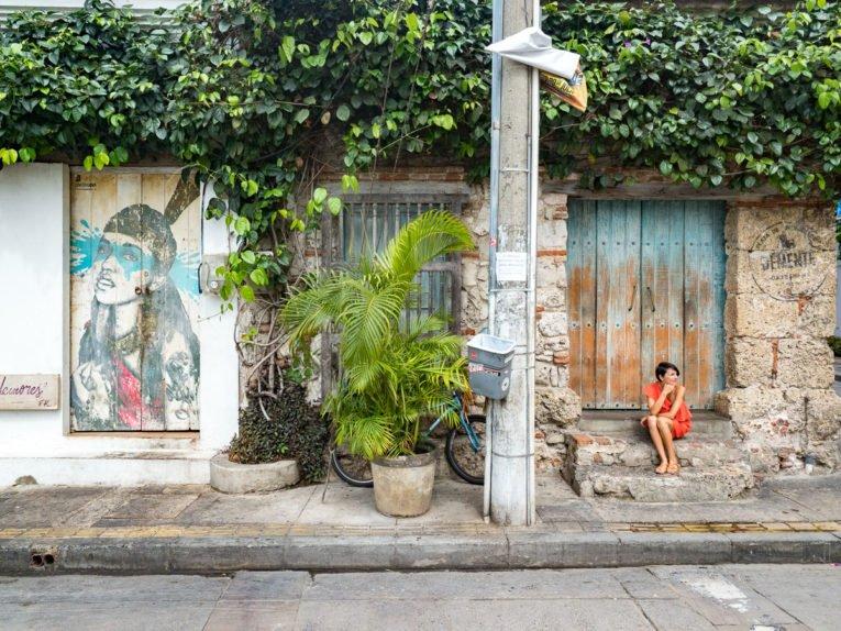 Street art à Getsemani, quartier historique de Cartagena en Colombie