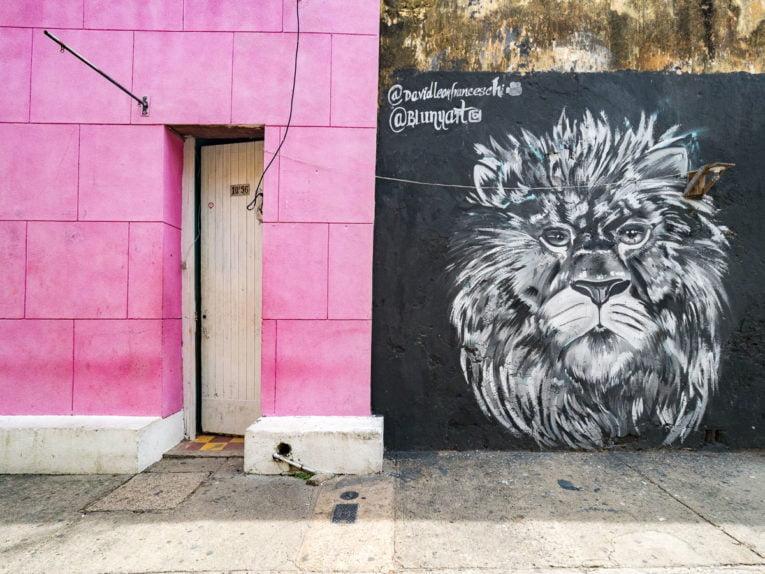 Street art à Getsemani, quartier historique de Carthagène en Colombie