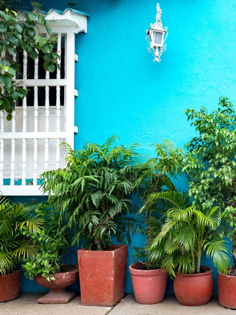Mur de couleurs à Getsemani, quartier historique de Carthagène en Colombie