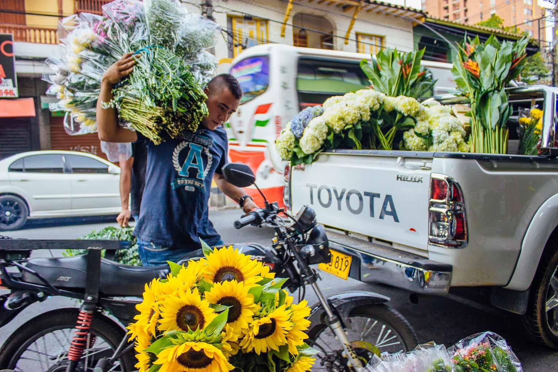 Visiter le marché aux fleurs de Medellin