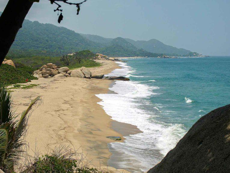 Playa Arrecifes, secteur El Zaino dans le parc Tayrona en Colombie