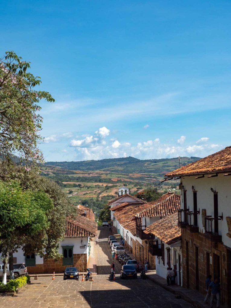 Vue sur Barichara, plus beau village du Santander endColombie