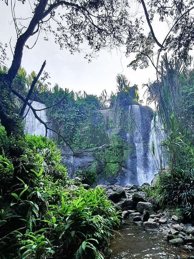 Cascade Los 3 chorros, Guadalupe dans le Santander en Colombie