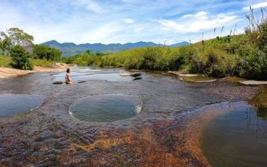 Las Gachas et ses piscines naturelles près de Guadalupe dans le Santander en Colombie
