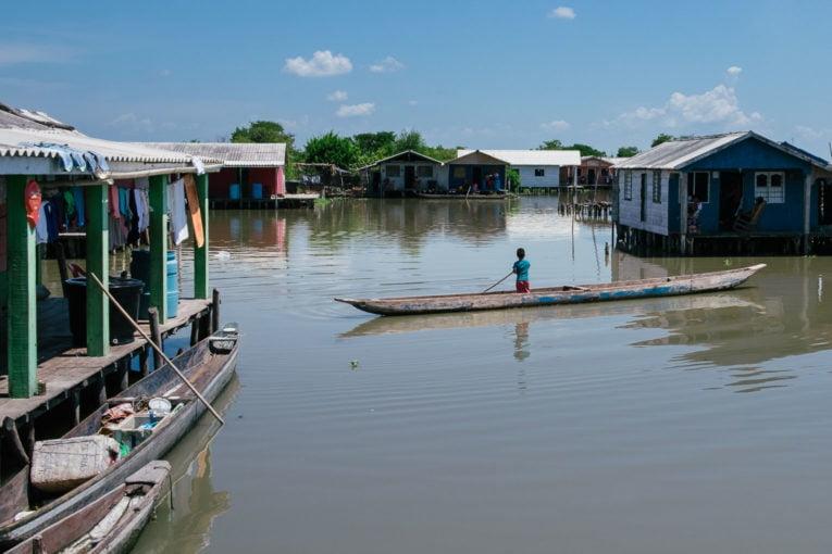 Nueva Venecia et Buenavista, Cienaga Grande de Santa Marta en Colombie